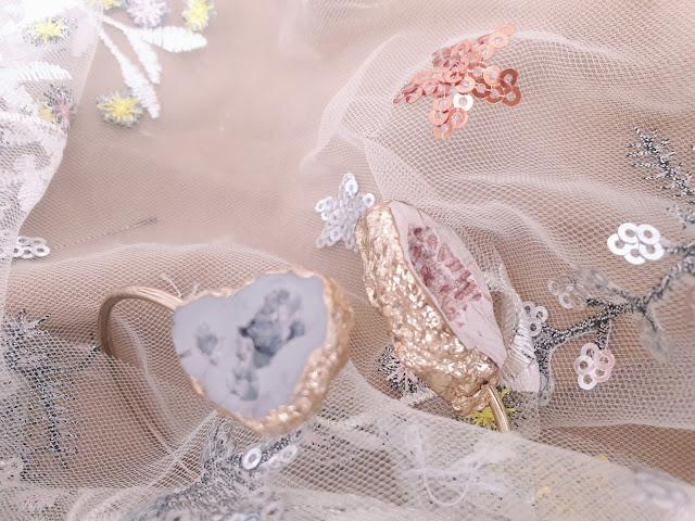 Raw agate bracelet