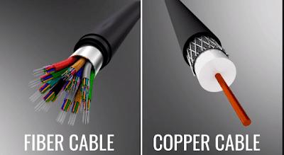 Comparison on optical fiber and copper cable