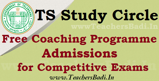 ts sc study circle free coaching programme admissions for competitive exams,application form,warangal,karimanagar,Mahabubnagar,Nizamabad study circle,residential free coaching programme 2018