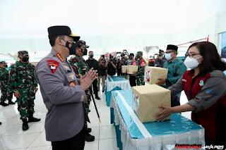 Panglima TNI-Kapolri Tinjau Pelaksanaan PPKM Mikro di Maguwoharjo Jogyakarta