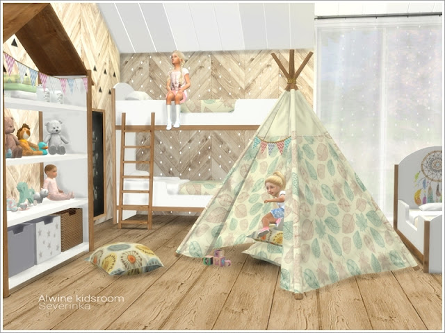 Симс 4, для The Sims 4, The Sims 4, моды для Sims 4, предметы для Sims 4, Severinka_, Sims 4, мебель, декор, детская комната, детская кровать, детская мебель, декор для детской, комната для ребенка, скандинавский стиль, детская в скандинавском стиле, декор для детской, украшение детской,