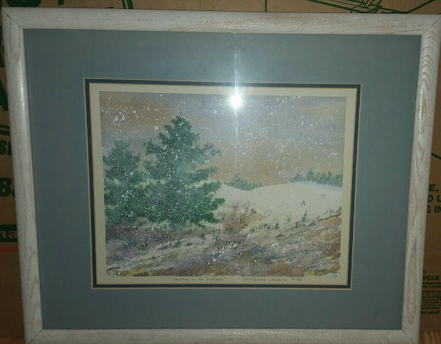 Vintage Scottish watercolor by F. Lennox Campello