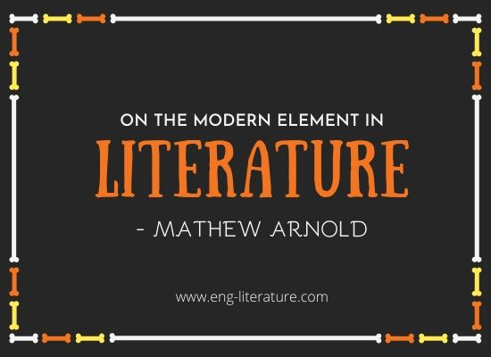 Free Download PDF : On the Modern Element in Literature