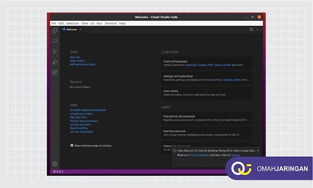 Tampilan Install Visual Studio Code di Ubuntu 20.04