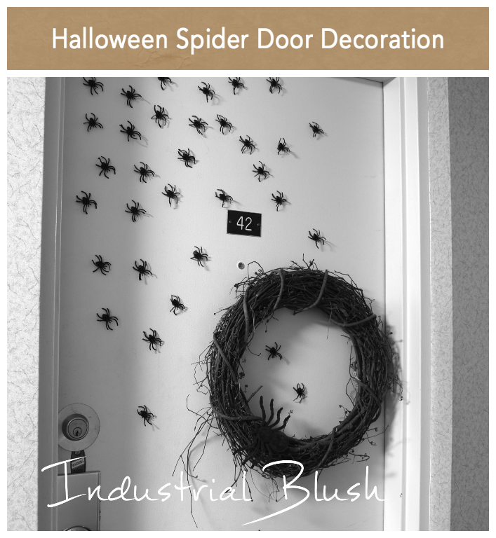 INDUSTRIAL BLUSH: Halloween Spider Door Decoration