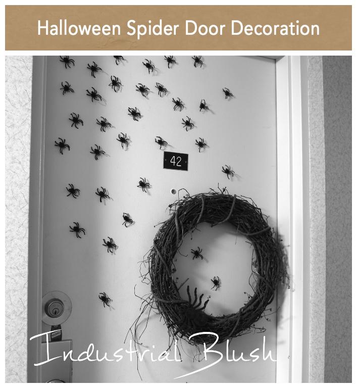 INDUSTRIAL BLUSH: Halloween Spider Door Decoration