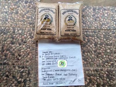 Benih pesanan M. BAYU S, Lamtim, Lampung..   (Sebelum Packing)