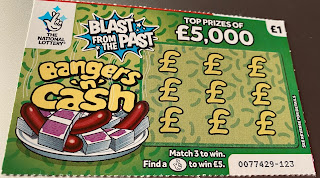 £1 Bangers 'n' Cash National Lottery Scratchcard