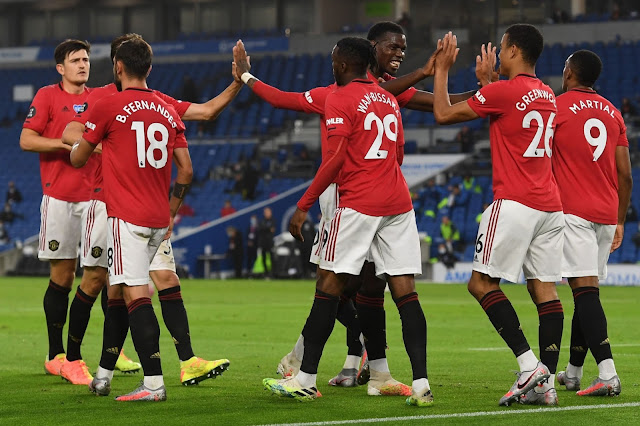Best stats from Brighton 0 Man Utd 3 in Premier League