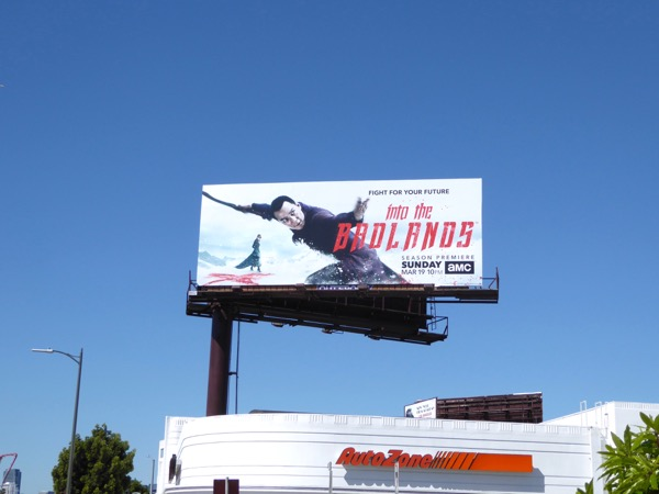 Into the Badlands season 2 billboard