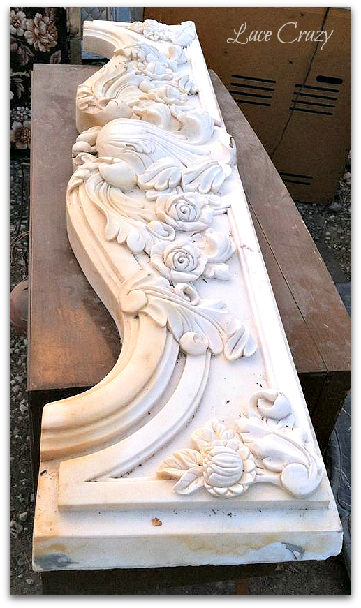 An Antique Marble Fireplace from Caracas Italy...
