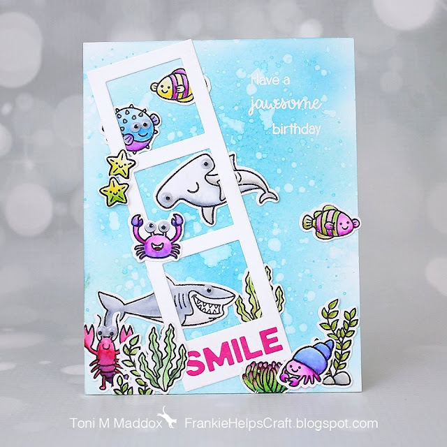 Sunny Studio Stamps: Best Fishes Customer Card by Toni Maddox