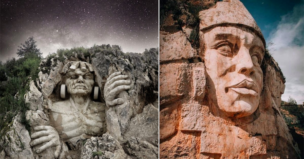Sculptor Carves Ancient Andean Gods Into Peruvian Mountain