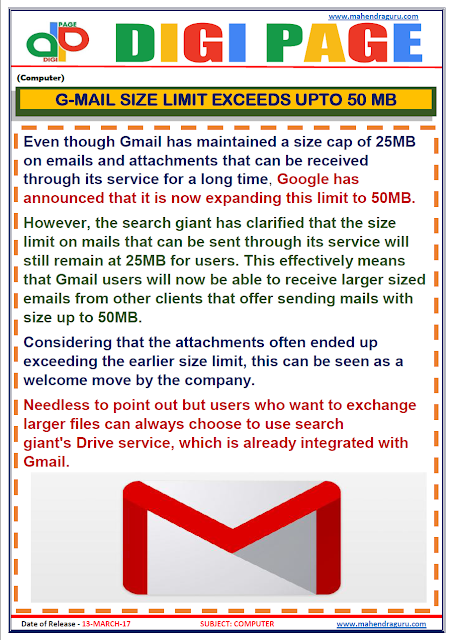 DP | GMAIL | 13 - MAR - 17 | IMPORTANT FOR SBI PO
