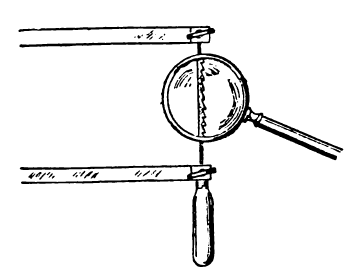 Расположение пилки вручном лобзике