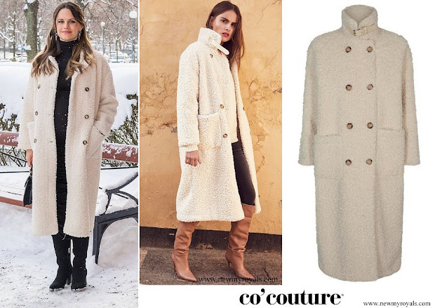 Princess Sofia wore Co'Couture Morgan Fur Coat