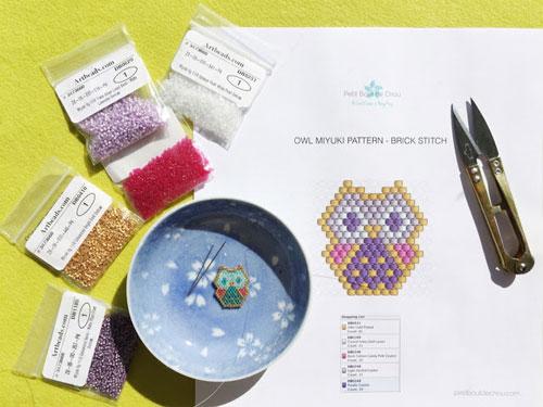 DIY: Baby Owl Miyuki Beads Pendant