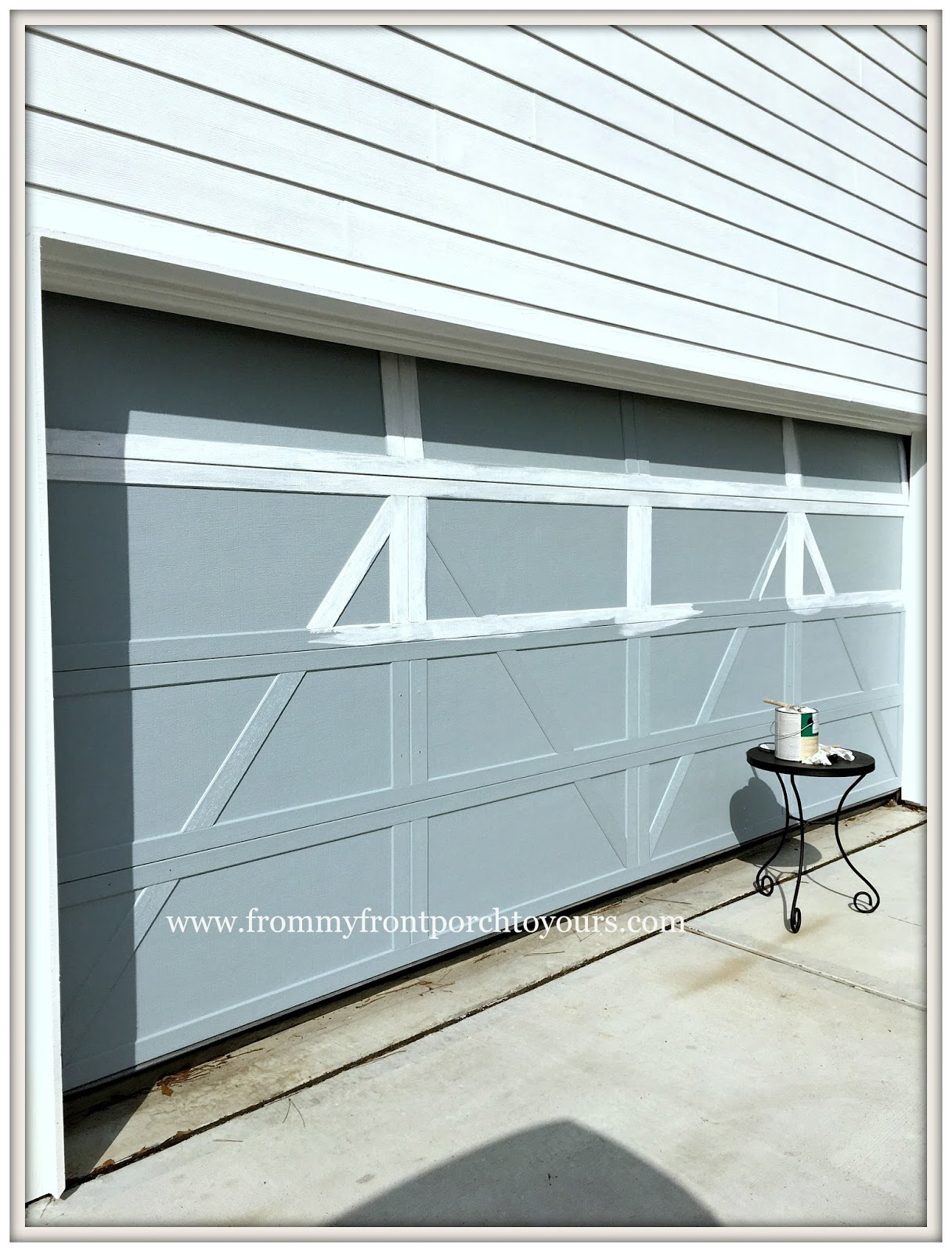 Garage Door Makeover Detached Garage Paint Farmhouse From My Front Porch To