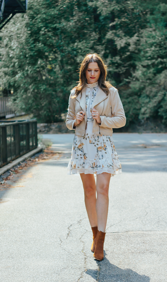 How to style a floral dress for fall