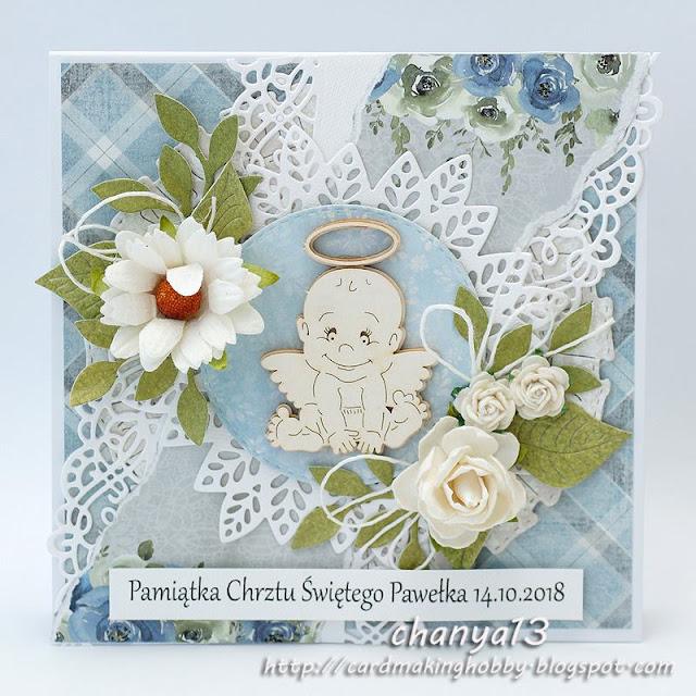 Kartka na chrzest chłopca