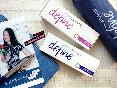 Review 1 Day Acuvue Define (natural shine, vivid style, accent style) - Daily to Dramatic Look