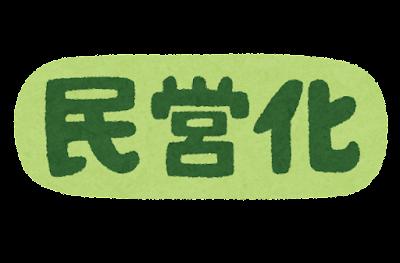 「民営化」のマーク