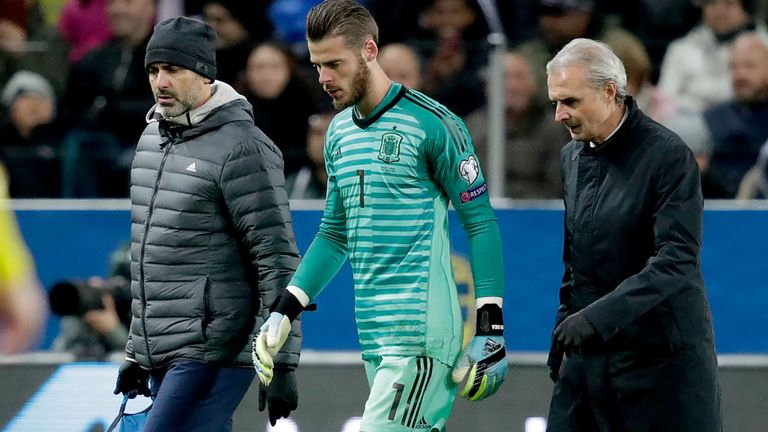 David de Gea's availability for Manchester United's clash with Liverpool