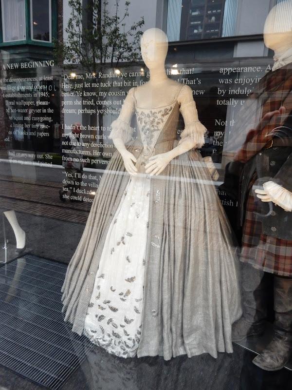 Caitriona Balfe Outlander Claire Fraser wedding gown