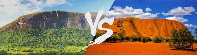 Bukit Kelam Sintang dan Ayers Hill Australia
