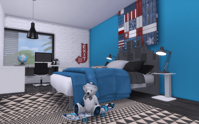chambre moderne sims 4