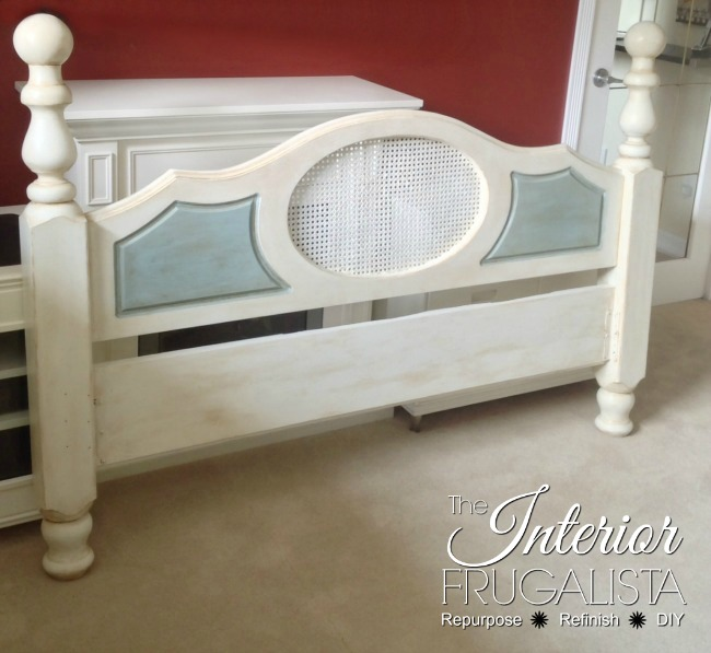Newel Post Caned Back Headboard Makeover