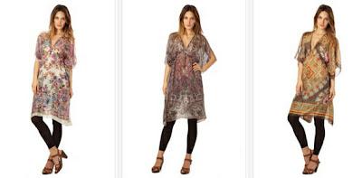 túnicas estampadas en estilo Hippie