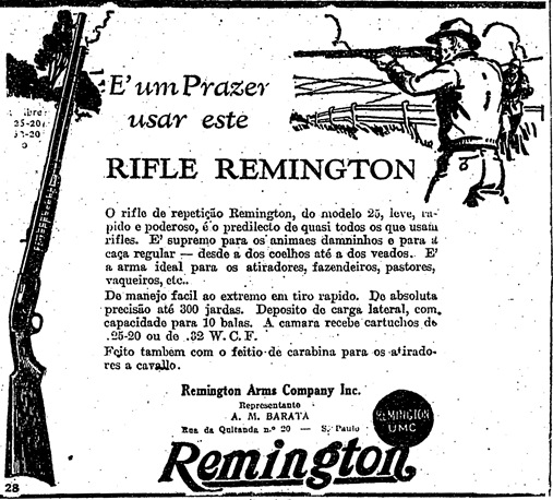 Propaganda do Rifle Remington - 1930.