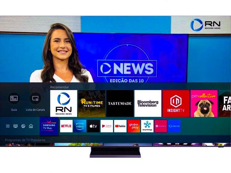 Com a Record News, Samsung TV Plus amplia catálogo de canais