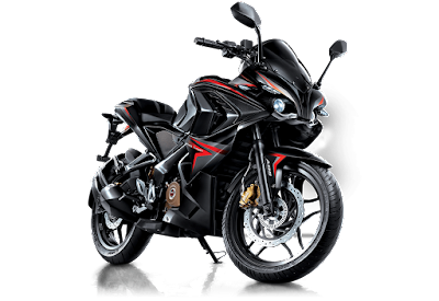 All New Bajaj Pulsar RS 200 red & black colour