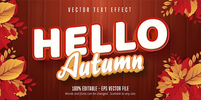 Hello Autumn Text Effect Ai