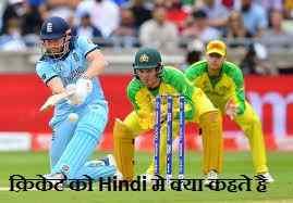 क्रिकेट को हिन्दी मे क्या कहते है । What is cricket called in Hindi?
