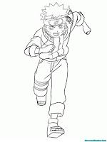 Mewarnai Gambar Naruto Warnai Jurus Tendangan Berlari Mudah