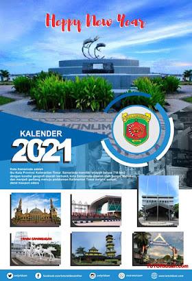 Desain Kalender Dinding 2021 Free CDR