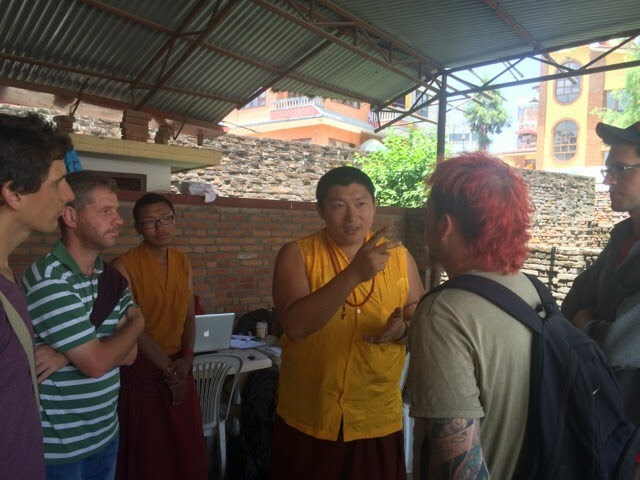 Phakchuk Rimpoche coordinating Nepal Earthquake Relief team