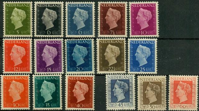 Netherlands 1947-48 Queen Wilhelmina