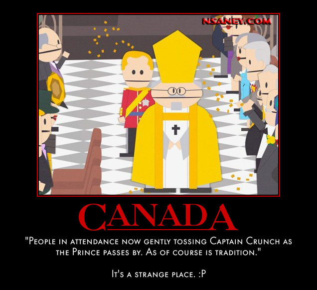 Nsaney'z Posters II: South Park: Canadian Royal Wedding