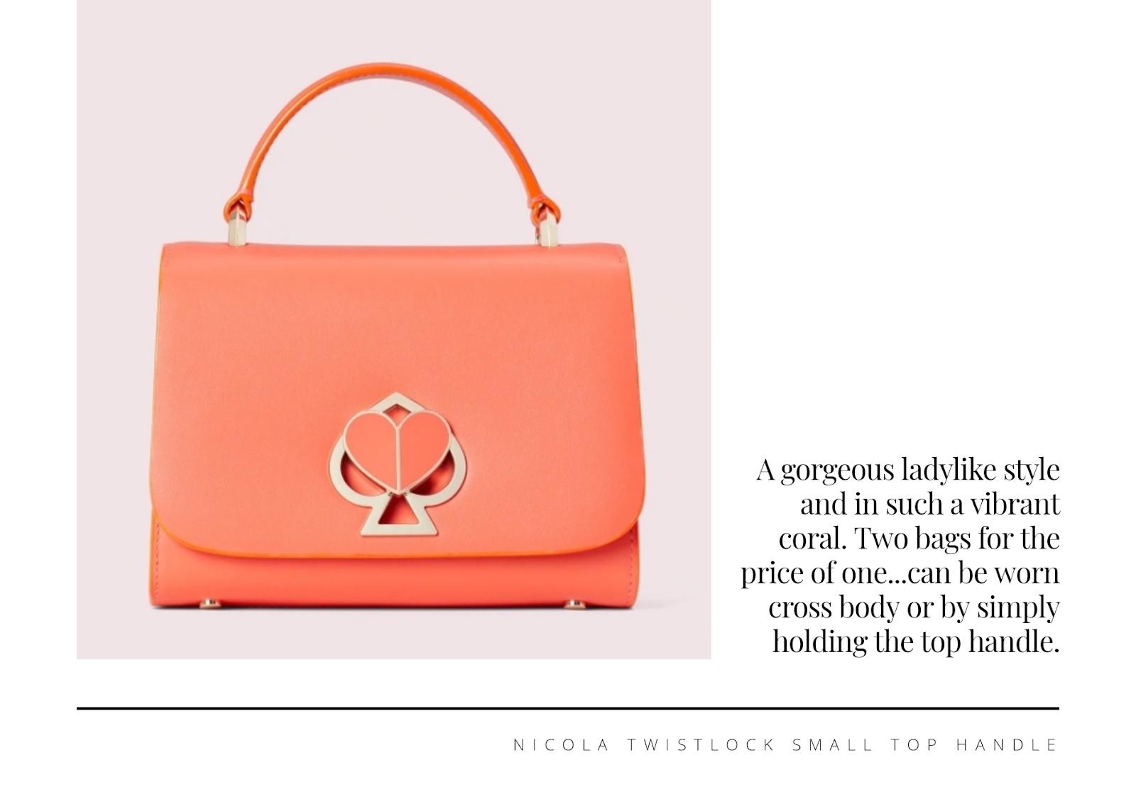 Kate Spade: Nicola Twistlock small top handle