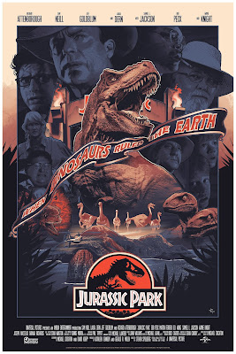 New York Comic Con 2019 Exclusive Jurassic Park Variant Screen Print by John Guydo x Bottleneck Gallery x Vice Press