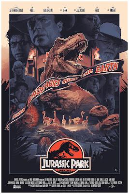 New York Comic Con 2019 Exclusive Jurassic Park Variant Screen Print by John Guydo x Bottleneck Gallery x Vice Press