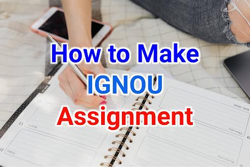 ignou assignment kaise banaye