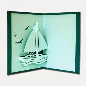 bateau en dans le sillage du pliage et d coupage. Black Bedroom Furniture Sets. Home Design Ideas