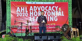 Walikota Jambi Syarif Fasha Buka Advocacy and Horizontal Learning Sanitasi di Sumbawa Barat