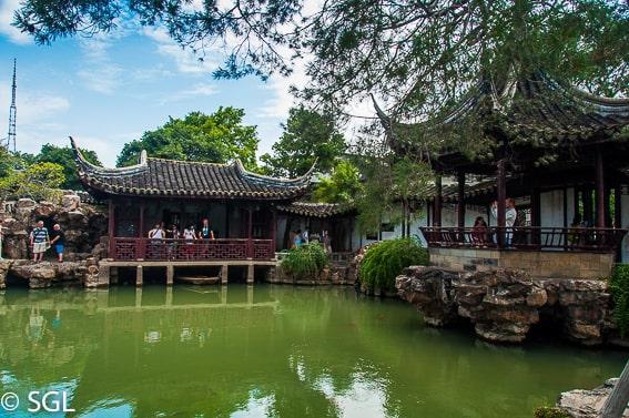 Suzhou, jardines del pescador. China