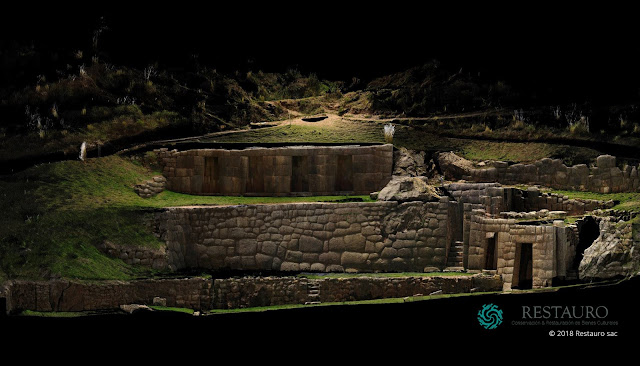 Tambomachay, Peru - Orthophoto of the entire complex - by Restauro SAC - JRC 3D Reconstructor